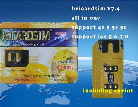 Sim ghép Heicard 7.4 unlock iPhone